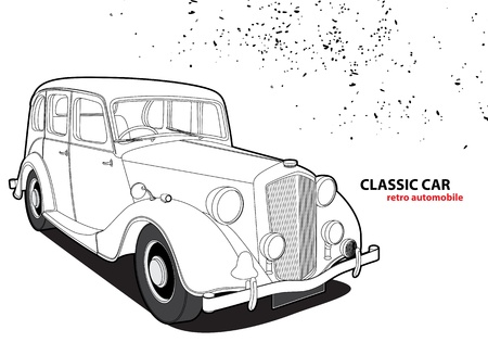 restored: Classic car Illustration
