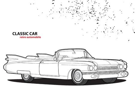 prestige car: Classic car Illustration