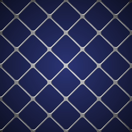 metal grid: Net seamless on blue background