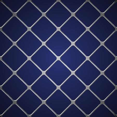 detain: Net seamless on blue background