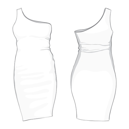 fashionably: template dress on white