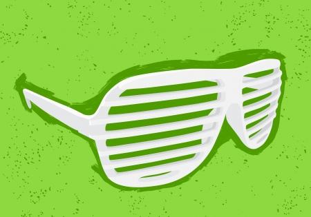 White shutter shades on green background Stock Vector - 16917971