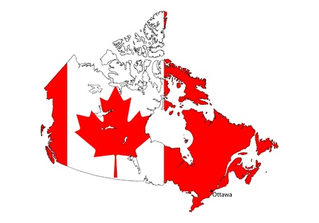stylized Canada map on white background Vector