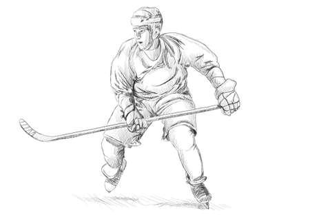 Hockey player photo