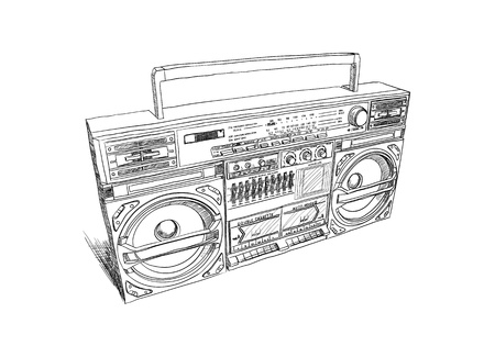 portable radio: Oldschool boombox