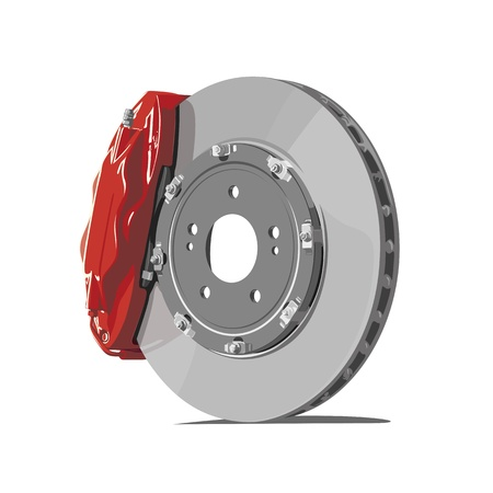 pads: vector brake disc on white background