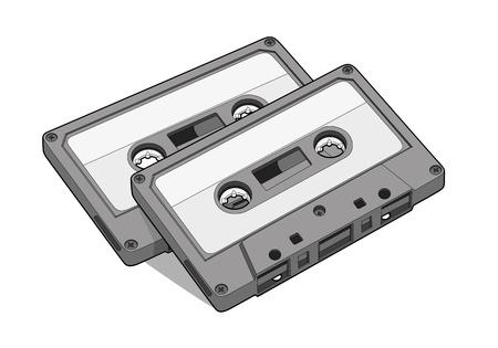 tape recorder: Cinta de audio en el fondo whtie