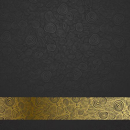 art back: Abstract pattern (gold culls on dark)
