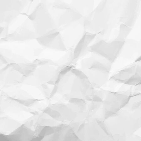 scrunch: Texture of white crumpled paper Illustration