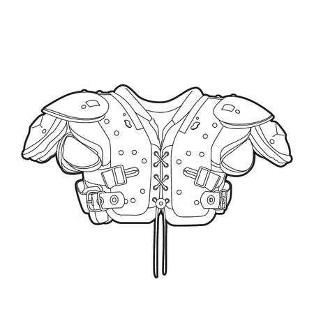 acolchado: Esquema hombreras de f�tbol en blanco