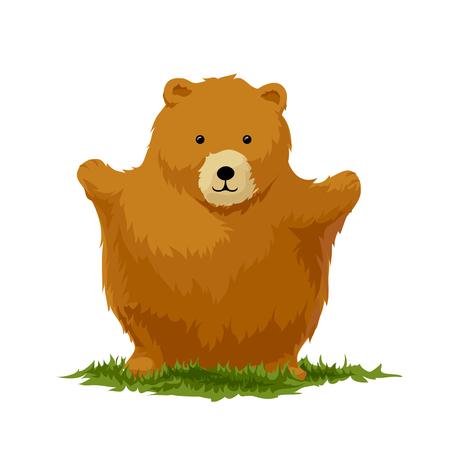 bear cub: Cute bear who want some hugs Illustration