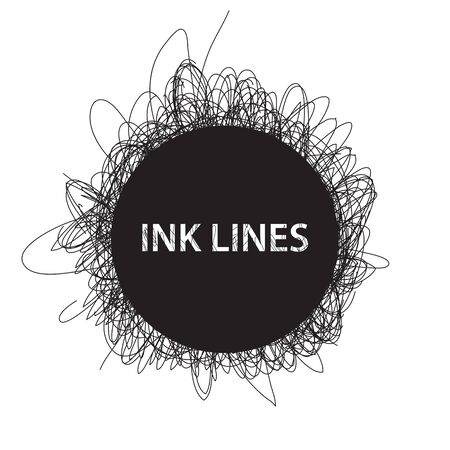 dubstep: Abstract Ink lines background on white
