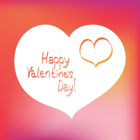 valentines day: Valentines day postcard with hearts