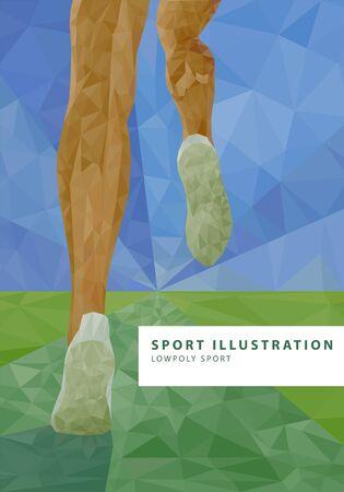 forme et sante: low poly jambes coureur illustration Illustration