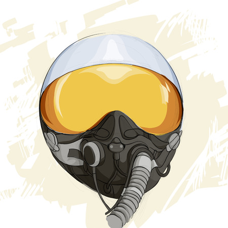 military helmet: Illustration of military flight helmet
