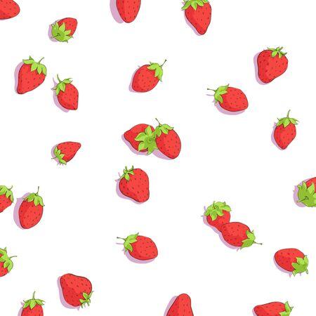 wild strawberry: bright strawberries on white background