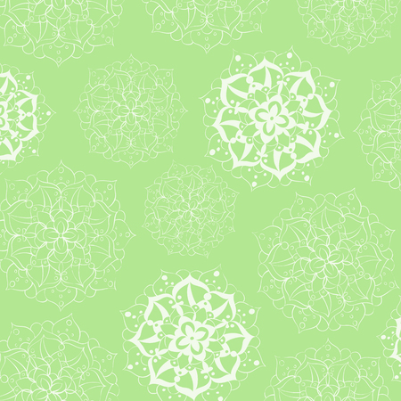 ethnics: Colorful round mandala ornament flower Illustration