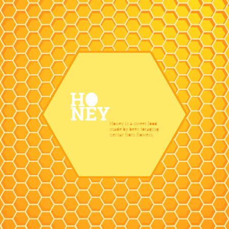 beeswax: Honeycombs bright vector background illustration