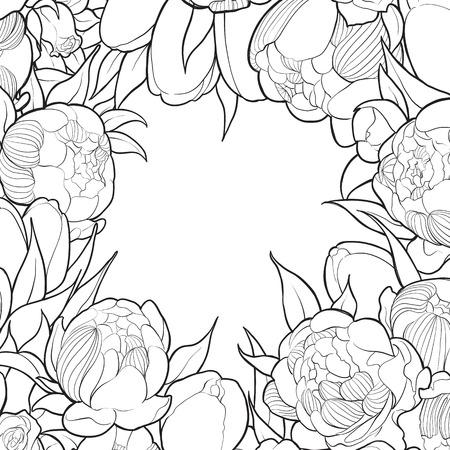 Flores Tropicales Niños Para Colorear Ilustraciones Vectoriales ...