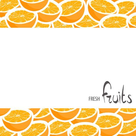 halved: Halved oranges with white background and place for an inscription