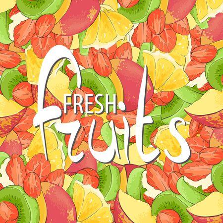 summer diet: Background of various juicy fruit