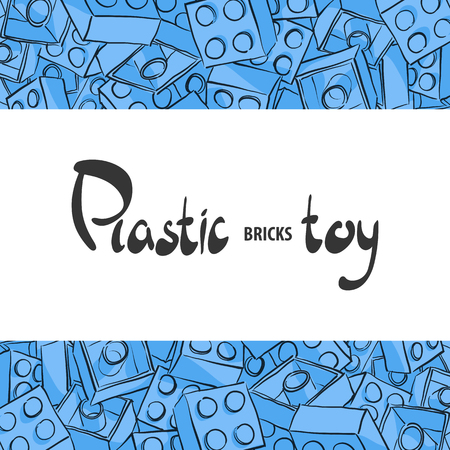 alfa: Plastic childrens designer for the game with a place for your inscription Illustration