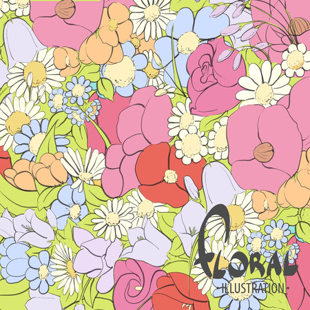 good mood: Beautiful floral background for you