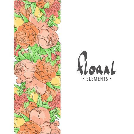 fragrant: Fragrant roses and peonies with leaves for you