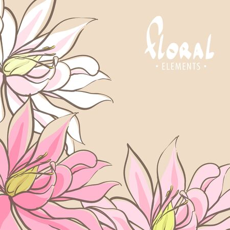Bright romantic floral background with lily