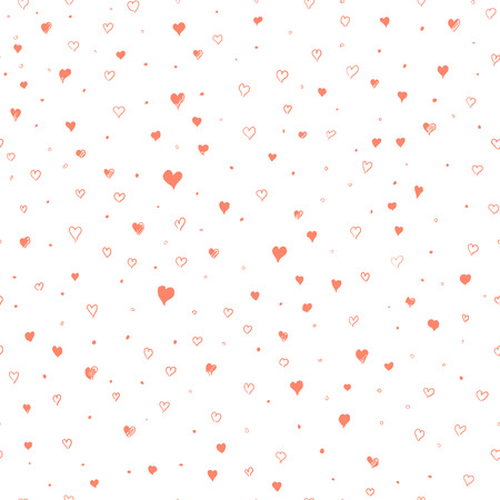 Valentine heart seamless pattern illustration