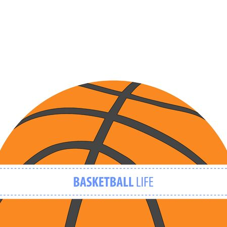 leisure activity: Bright basketball vector background with copy space Illustration