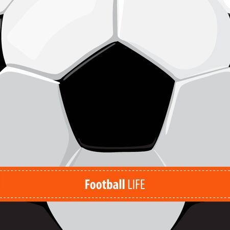 sports winner: beautiful football ball background with copy space