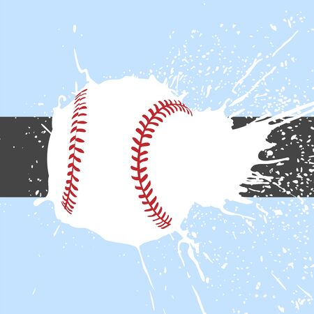 league: Bright baseball background with some balls Illustration