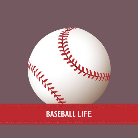 fastball: Close up baseball ball with place for text