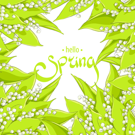 Bright may lillies background with text holder Illustration