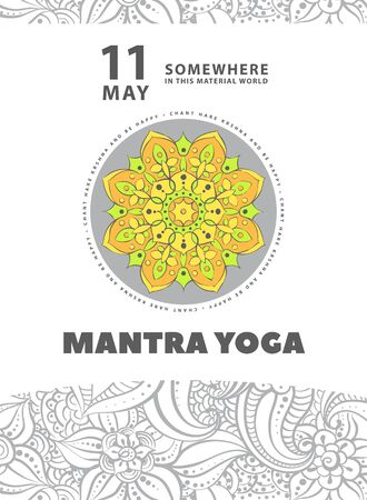 mantra: Stylish poster to attract people to your event Illustration