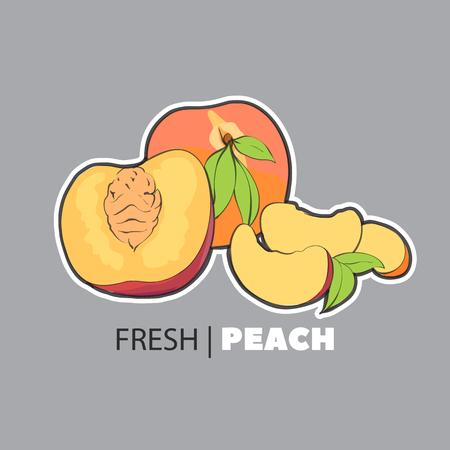 Fresh summer cartoon fruit illustration Illustration