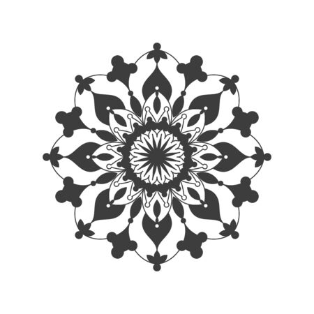 underline: A chic mandala on a white background brings money into the house