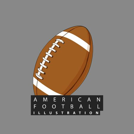 American football ball close-up against a dark background Ilustrace