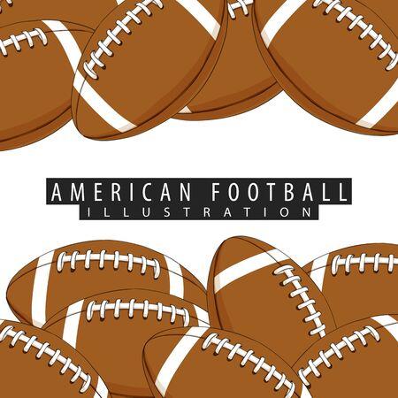 Ballen voor Amerikaans voetbalclose-up op een witte achtergrond met plaats voor uw inschrijving