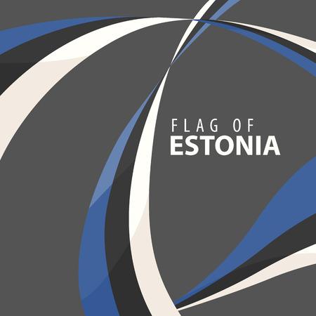 暗い背景にエストニアのデザインフラグ