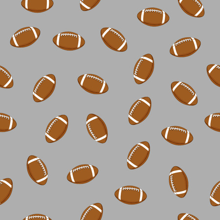 Many balls for American football on a gray background seamless Ilustrace