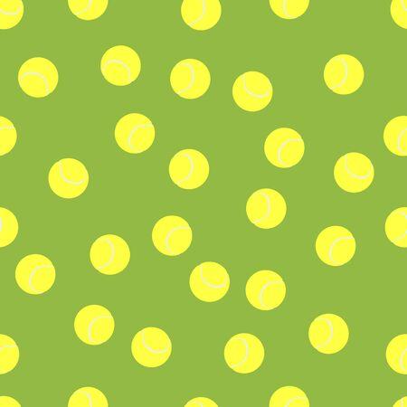 Vele tennisballen op een blauwe naadloze achtergrond