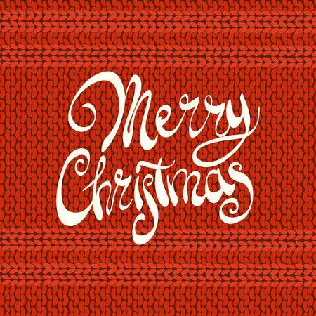 Bright red knitted cristmas background