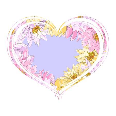 Corazón azul con delicadas flores multicolores