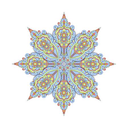 Beautiful vintage pattern on white background