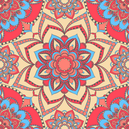 Vector seamless background with ethnic motifs
