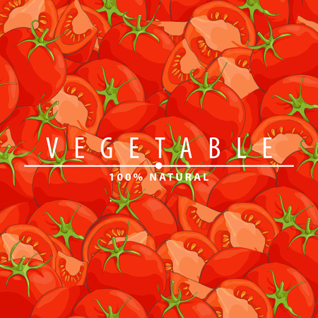 Group of fresh red tomatoes vector illustration