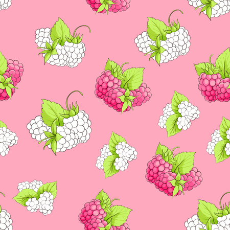 Vector illustration of bright sweet berry seamless