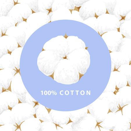 Illustration vectorielle de fond de fleur de coton blanc délicat Vecteurs